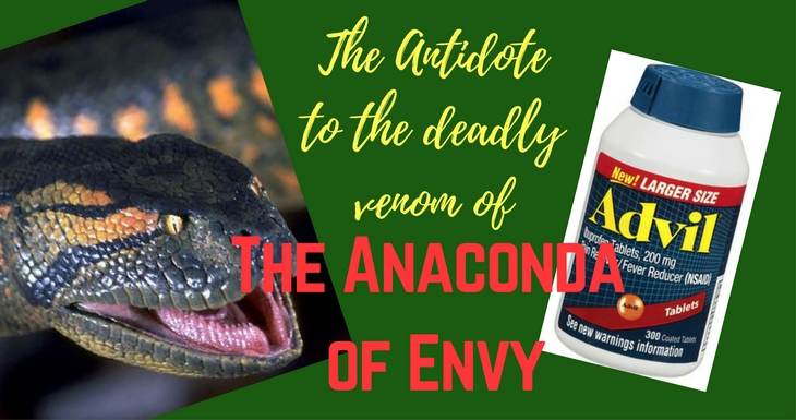 The Antidote to the Venom of the Deadly Anaconda of Envy